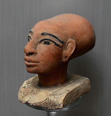 ANCIENT EGYPT ANTIQUE Egyptian stone statue of Priest  (300-1500 BC