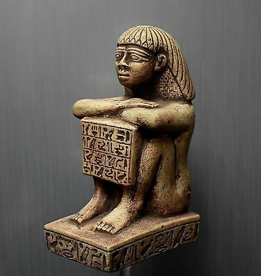 ANCIENT EGYPT ANTIQUE  Egyptian brown basalt stone Block statue 300-1500BC