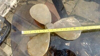 """14"""" unmachined brass propeller , canal boat"""