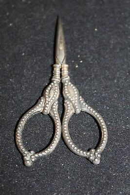 Antique Sterling Silver Embroidery Scissors
