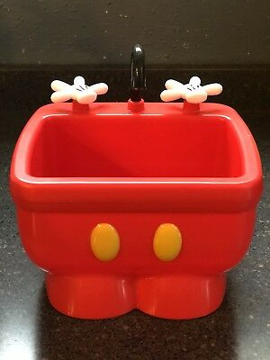 DISNEY PARKS MICKEY Mouse Red Pants Kitchen Sink Ice Cream Dish ...