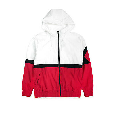 pretty nice a2636 2b414 Men s Jordan Jsw Diamond Track Jacket Aq2683 100 White Red Black Brand New