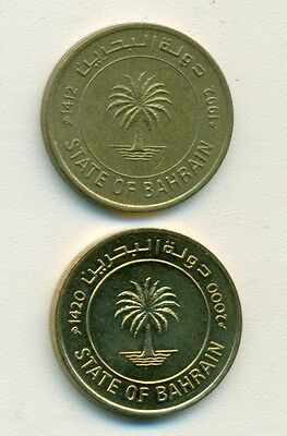 2 DIFFERENT 10 FILS COINS from BAHRAIN (1992 & 2000)