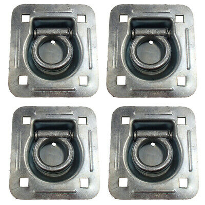 4 pk Flatbed Cargo Truck Trailer RDR5 Tie Down Strap Recessed Flush Mount D-Ring