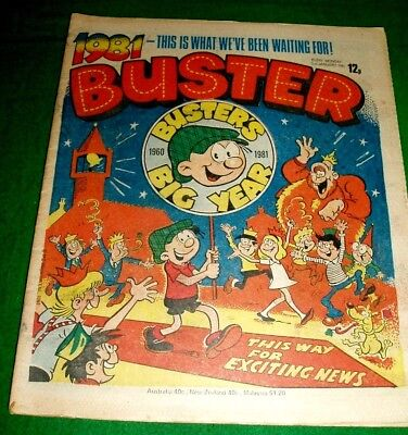 Buster Comic New Year Issue 1981 Buster's Big Year 21 Years