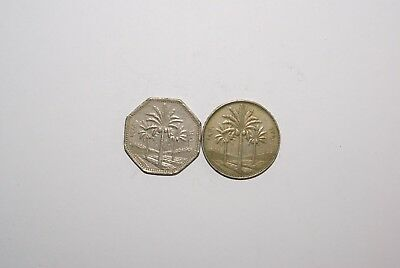 2 DIFFERENT COINS from I x R x A x Q - 1981 250 FILS & 1970 500 FILS