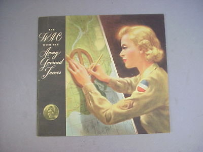 """WWII US Army """"The WAC with the Army Ground Forces"""" Brochure Women's Army Corps"""
