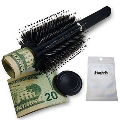 Hair Brush Diversion Safe Stash with Smell Proof Bag by Stash-it Can Safe Secret