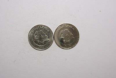 2 DIFFERENT 500 LIVRES COINS from LEBANON DATING 2000 & 2003