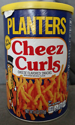 Planters Cheez Curls Cheese Snack - New In Can - July 2018 Limited Release