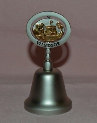 Collectible Windsor Brass Bell Handle Has Turning Picture Of Windsor Castle