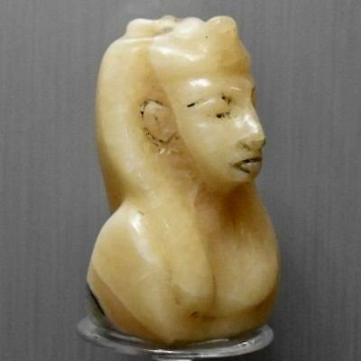 ANCIENT EGYPT ANTIQUE Egyptian Stone of Alabaster figure of king 300-1500)BC