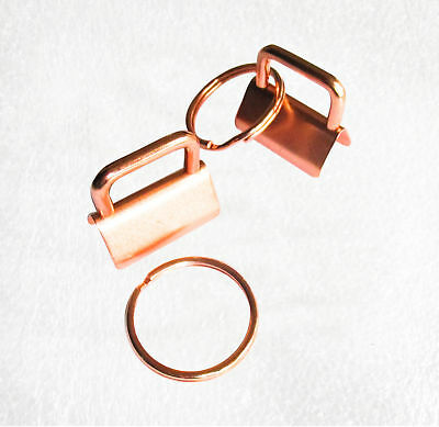 Rose Gold 25mm key fob hardware with split ring for straps, lanyards