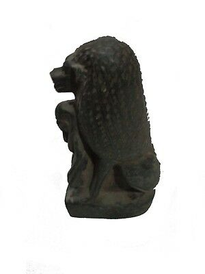 RARE ANCIENT ANCIENT EGYPTIAN Statue Stone New Kingdom Baboon 300 Bc