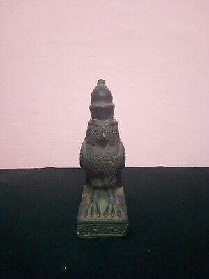 RARE ANTIQUE ANCIENT HORUS stone bird Falcon Egyptian Statue 2400–2300 Bc