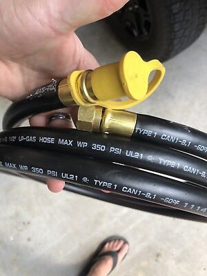 """10' 1/2"""" Natural Gas Generator Hose With Quick Connect"""