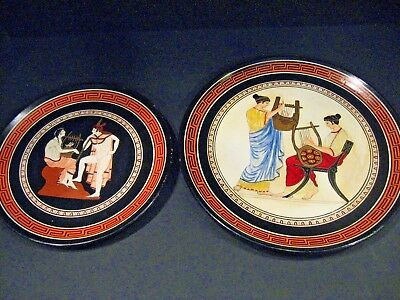 Vintage hand made & painted Greek Mythology wall plate Lot British Berlin PLATE