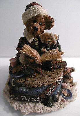 """Boyds Bears Music Box: Bailey """"The Night Before Christmas"""" Plays 'Silver Bells'"""