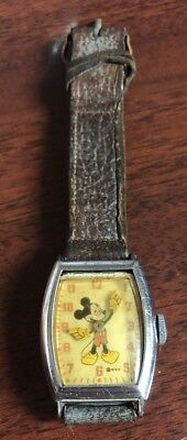 Vintage WDP Walt Disney Productions Mickey Mouse US Time Watch Not Running
