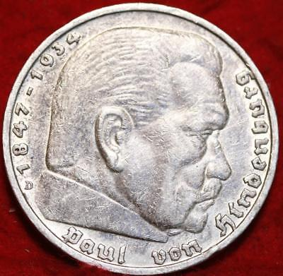 1935 Germany 5 Marks Silver Foreign Coin