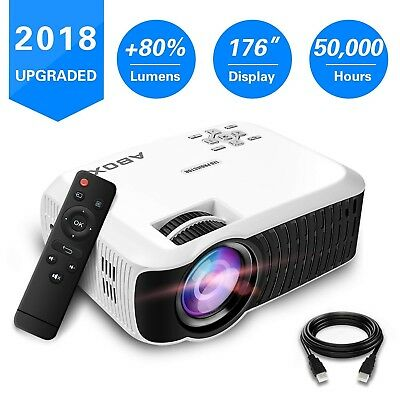 2018 Newest ABOX T22 Portable LCD Video Projector GooBang Doo Multimedia Home...