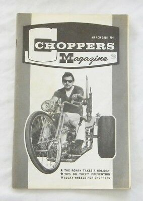 Vintage Ed Roth Choppers Magazine March 1968 Extra Nice Condition 48 Pages