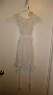 Vintage Handmade White Pinafore Girls Size 12 - 14
