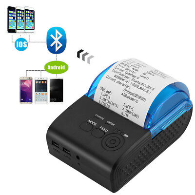 Wireless Mini 58mm Portable Bluetooth Thermal Receipt Printer for Android Pc