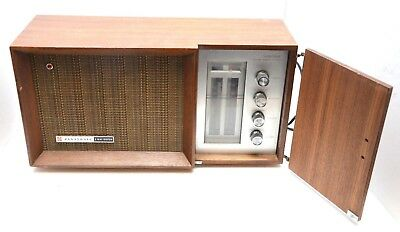 Panasonic RE-7487 Solid State AM FM Transistor MCM Table Radio Wood Cabinet VTG