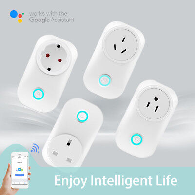 APP Control Smart WiFi Power Socket Home Wireless Timer Switch Outlet US/EU Plug
