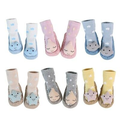 Kids Baby Cotton Sock Anti-slip Warm Cartoon Slipper Soft Boot Stockings 0-18M