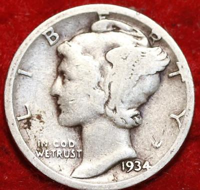 1934-D Denver Mint Silver Mercury Dime