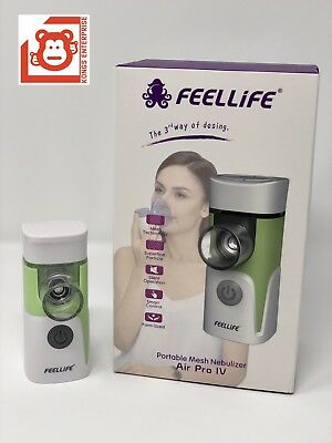 FeelLife Portable Mesh Ultrasonic Nebulizer, Air Pro IV, 1 yr Factory Warranty