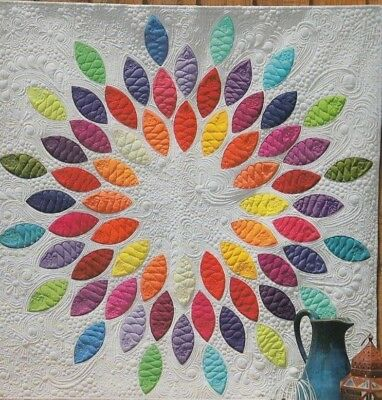 Seed Burst - pretty applique PATTERN in 2 sizes + acrylic templates