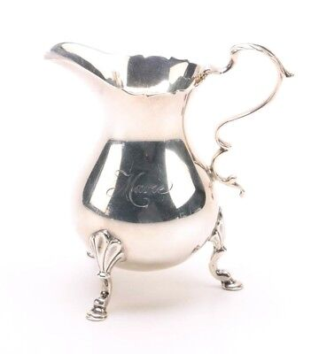 "Tiffany Company Milk Jug Creamer Sterling Silver engraved (Marie/Jean)  4""H   h"