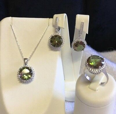 AAA Quality 925 Sterling Silver Handmade Jewelry Alexandrite Ladie's Full Set