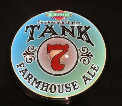 """Boulevard Tank 7 Farmhouse Ale 22"""" Round LED Lighted Beer Sign smokestack series"""