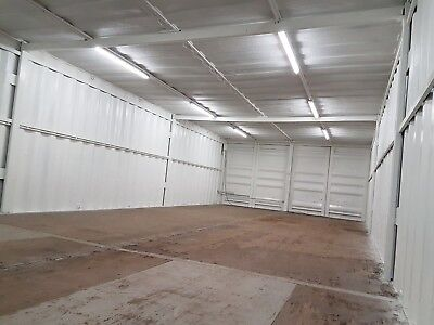Very Secure 40 X 16 Foot Wide Linked Container Workshop.. Strengthened.