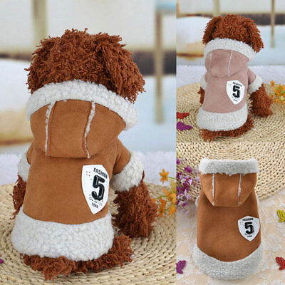 Fashion Pet Clothes Sweater Chihuahua Small Dog Coat Jacket Fleece Soft Warm