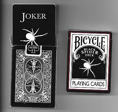2 x Bicycle Black Spider Deck - Playing Cards - ( 1 sealed + 1 opened)