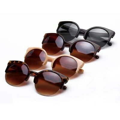 Vintage Women Oversized Sunglasses Cat Eye Flat UV400 Eyewear Mirror Shades NEW