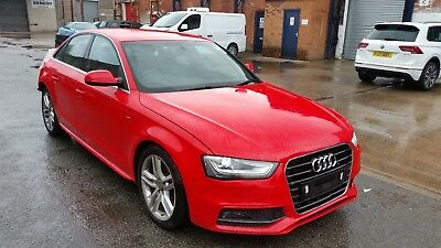 2015 AUDI A4 B8 2 0 Tdi S-Line Saloon Red Breaking Spares Parts Salvage
