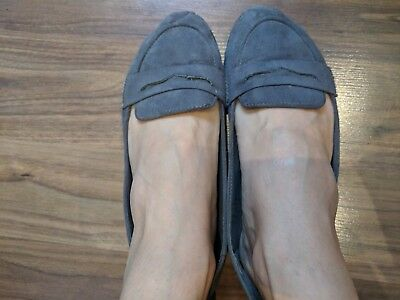 Ladies well worn pumps ballerina flats shoes used uk size 6