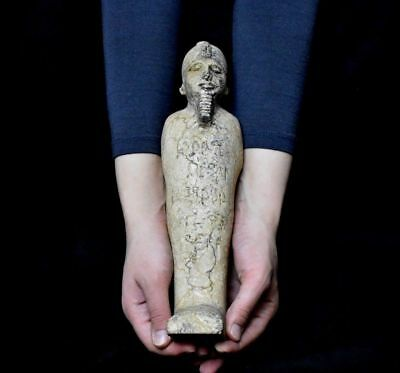 ANCIENT EGYPT ANTIQUE EGYPTIAN LARGE USHABTI of king 33 cm 1500–300 )BC