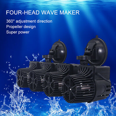 Fish Tank Wave Maker Double Power 360° Adjustable Direction Fit For Middle Tank Be Friendly In Use Fish & Aquariums