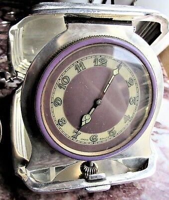 Tiffany & Co.Sterling Silver 8 Day Travel Clock Swiss Movement Antique Art Deco
