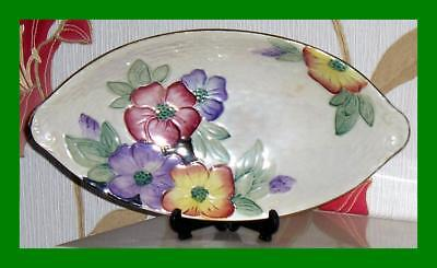 1962 Earl Dish By Maling Pottery In The Petunia Pattern - Lustre Finish