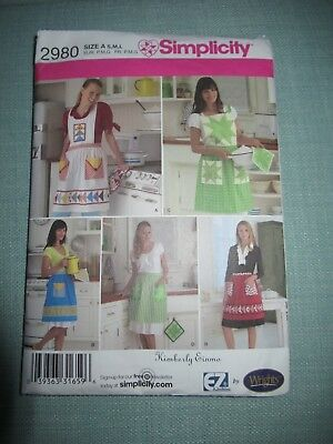 Simplicity Patchwork Aprons - Pattern No. 2980, Size A  By Kimberly Einmo