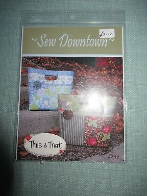 Sew Downtown Handbag Bag Pattern By Sherri K. Falls For This & That Sewing Quilt