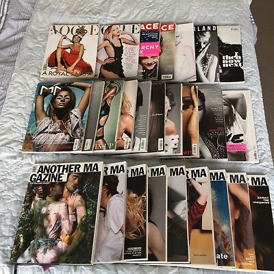 Job Lot Fashion Magazines Books POP Another Magazine The Face Vogue 26 Issues